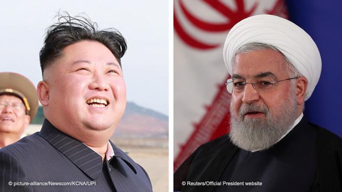 North Korea's Kim Jong Un and Iran's Hassan Rouhani
