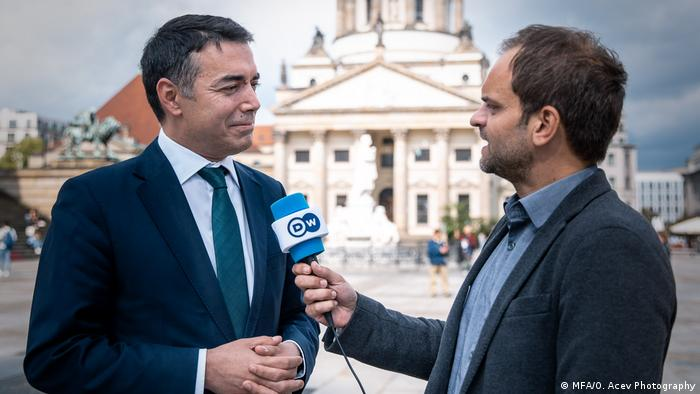 Deutschland Nikola Dimitrov Interview DW (MFA/O. Acev Photography)
