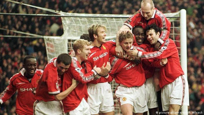 Bayern already have one hand on the champagne. Mario Basler's early goal looks enough to beat Manchester United, but then football sprinkled magic. In the 91st minute, Sheringham scored from a corner. Then two minutes later, Solksjaer added a second to secure an incredible comeback and leave Bayern stunned - even to this day.