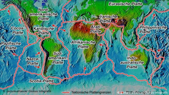Plattentektonik der Erde Flash-Galerie (Karte: picture-alliance)