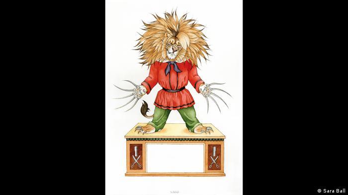 Der Struwwelpeter als Löwe (Sara Ball)