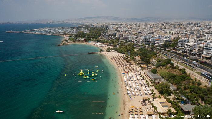 Varkiza, one of the most popular beaches in Athens