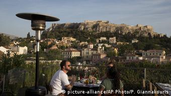 Restaurant in front of Acropolis hill, Athens