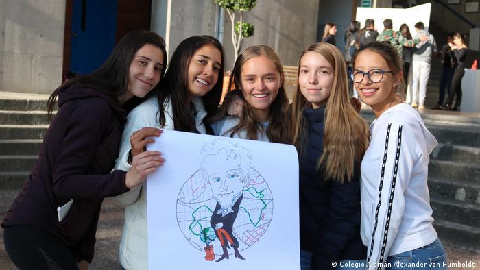 Students at the Alexander von Humboldt German School in Mexico