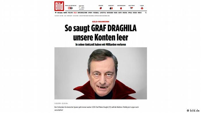 Screenshot Immagine Giornale Fotomontaggio Mario Draghi