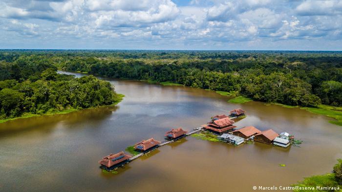 Pousada Mamirauá na Amazônia (Marcelo Castro/Reserva Mamirauá)
