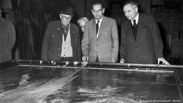 Säureanschlag auf Rubens Gemälde 1959 (picture-alliance/dpa/K. Heirler )