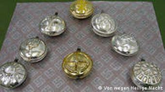 Grenade shaped christmas tree ornaments