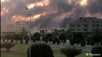 Από την επίθεση στην Aramco.