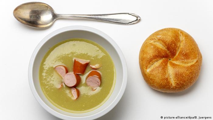 Немецкая кухня - Саксония - Анхальт - гороховый суп с сосисками