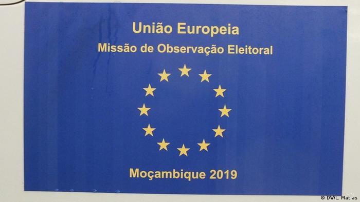 Mosambik Maputo | Wahlbeobachtungsmission der Europäischen Union: Logo (DW/L. Matias)