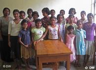 斯里兰卡一所孤儿院的女孤儿