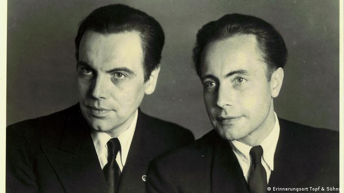 Ernst Wolfgang (1904-1979) i Ludwig Topf (1903-1945), zdjęcie z końca lat 30. XX wieku