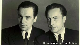 Ludwig and Ernst Wolfgang Topf together (Erinnerungsort Topf & Söhne)