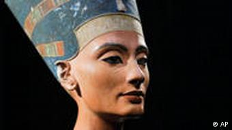 A bust of Nefertiti, on display at the New Museum in Berlin