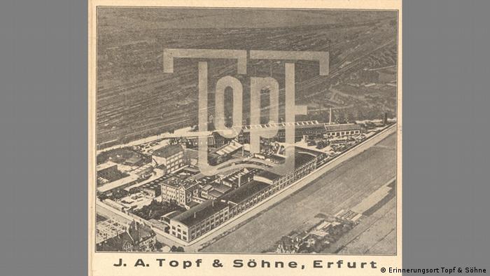 Werbeanzeige mit Firmengelände, Erfurter Stadtführer, 1935 (Sammlung Gedenkstätte Buchenwald )