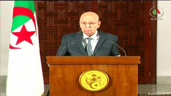 Abdelkader Bensalah TV Ansprache