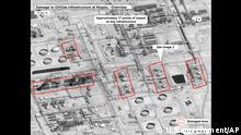 Saudi Arabien Luftbilder Drohnenangriffe auf Ölanlage