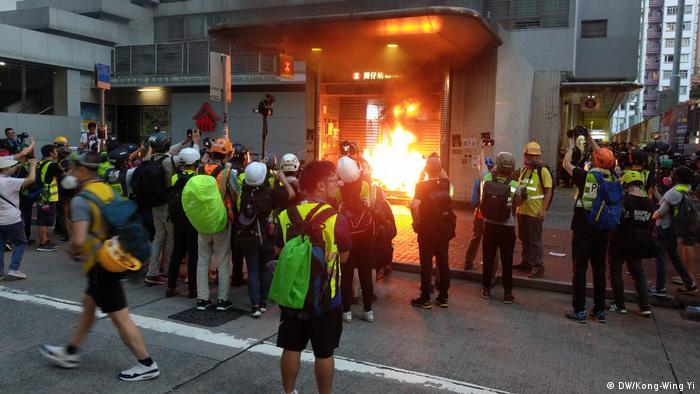 Hongkong Proteste (DW/Kong-Wing Yi)