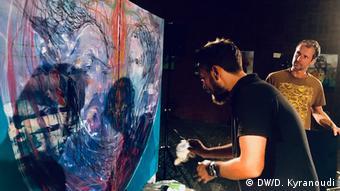 Live painting με συνοδεία αυτοσχεδιαστικής μουσικής στη Βόννη