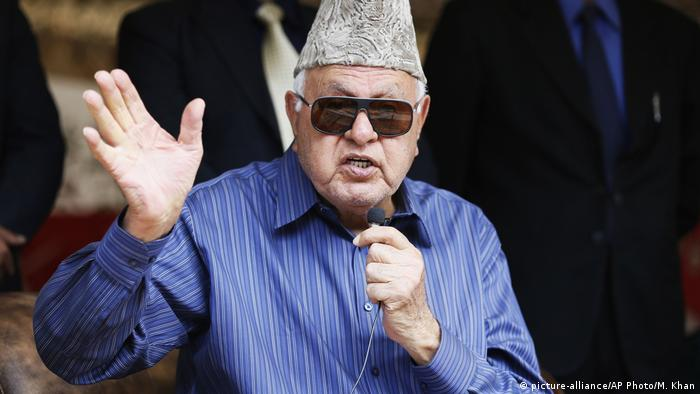 Farooq Abdullah, former commissioner of the Jammu and Kashmir region (picture-alliance/AP Photo/M. Khan)
