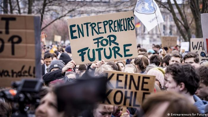 Demonstration für Klimaschutz (Entrepreneurs for Future)