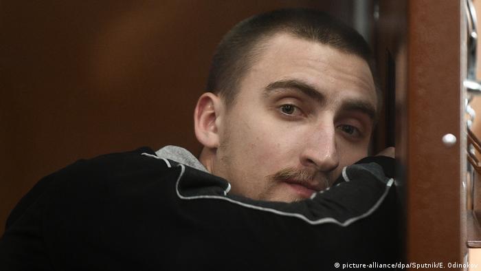 Павел Устинов в зале суда