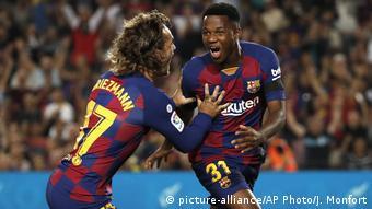 Spanien Fußball | FC Barcelona, Antoine Griezmann & Ansu Fati