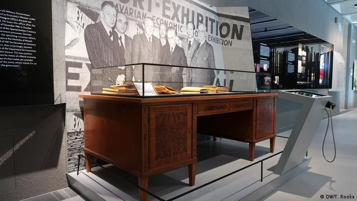 Ludwig Erhard's desk from the Bavarian economy ministry in the Ludwig Erhard Zentrum - photo by Timothy A. Rooks