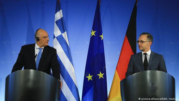 Heiko Maas und Nikos Dendias Pressekonferenz in Berlin