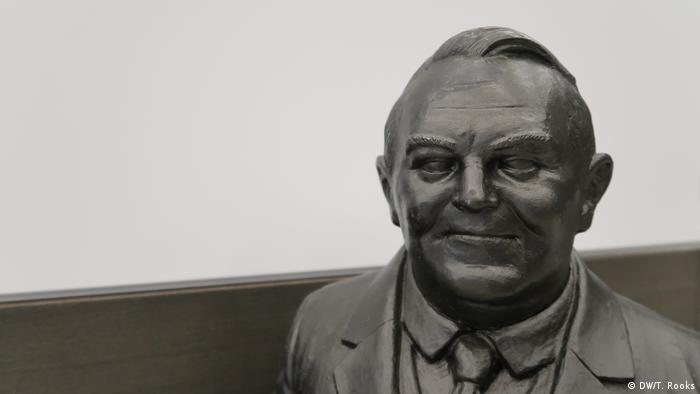 A miniature sculpture of Ludwig Erhard at the Ludwig Erhard Center - photo by Timothy A. Rooks