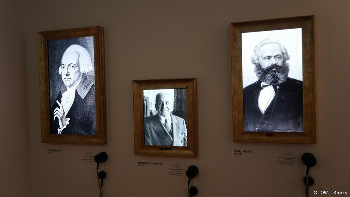 Adam Smith and Karl Marx are part of the exhibition at the Ludwid Erhard Center in Fürth, Germany