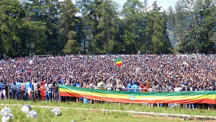 Mass gathering of people