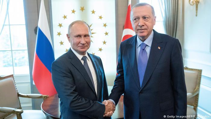 Recep Tayyip Erdogan (r.) and Vladimir Putin in Ankara