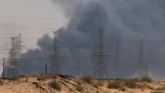 La petrolera Saudí Aramco después de los ataques de rebeldes hutíes (14.09.2019)