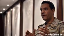 Sprecher der von Saudi-Arabien geführten Militärkoalition Colonel Turki Al-Maliki