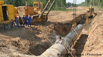 Russian construction crews recently began laying the Nord Stream pipeline.