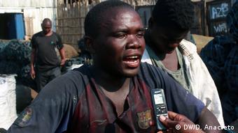 Mosambik Anwohner von Pemba (DW/D. Anacleto)