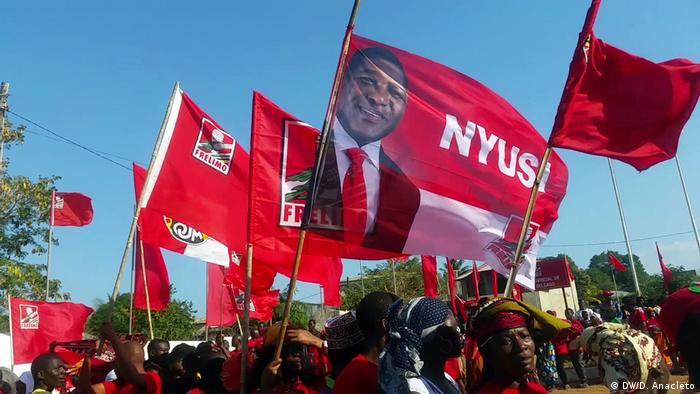 Mosambik FRELIMO-Kampagne in Cabo Delgado (DW/D. Anacleto)