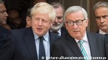 Eu Commission President Jean-Claude Juncker met UK Prime Minister Boris Johnson in Luxembourg on Monday (picture-alliance/empics/S. Rousseau )