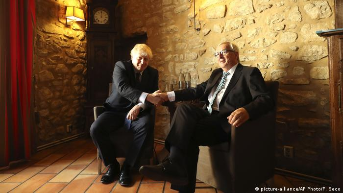 Jean-Claude Juncker, Boris Johnson, Uni Eropa