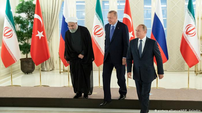 Ankara, 16.9.2019.: predsjednici Irana, Turske i Rusije Hassan Rouhani, Recep Tayyip Erdogan i Vladimir Putin