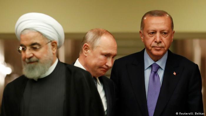 Türkei Ankara PK Ruhani Erdogan und Putin (Reuters/U. Bektas)