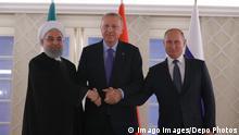 Türkei Ankara PK Ruhani Erdogan und Putin