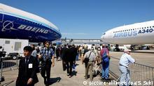 Boeing und Airbus auf Luftfahrtmesse in Paris-Le Bourget