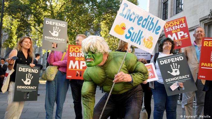 Protestas en el Reino Unido el pasado martes.
