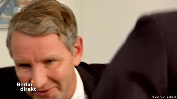 Screenshot Björn Höcke im ZDF Interview Berlin direkt