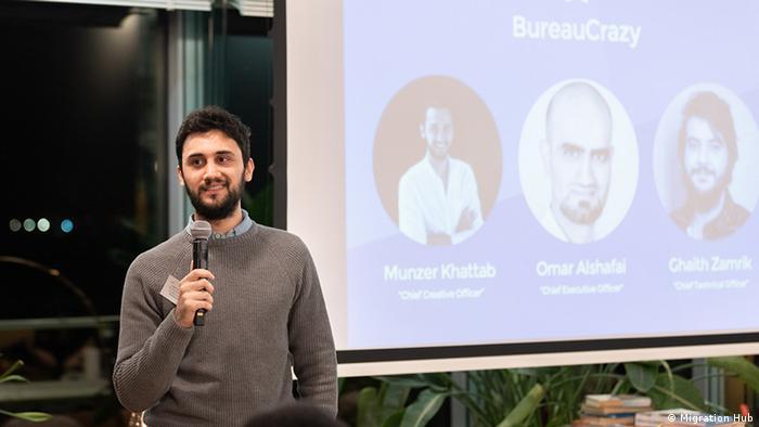 Deutschland Munzer Khatab beim me4change Event in Berlin