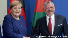 Berlin König von Jordanien bei Bundeskanzlerin Merkel