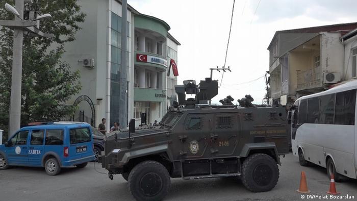 Vehículo del Ejército turco en la provincia de Diyarbakir.